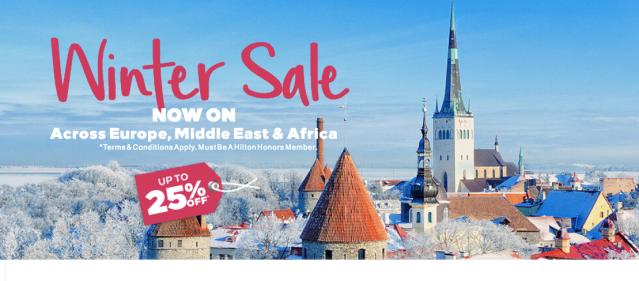 Hilton 25% in Europe - Winter 2018