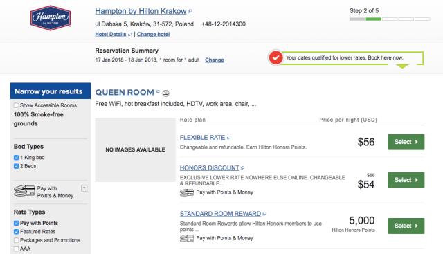 Hilton 5K:Night Example 1