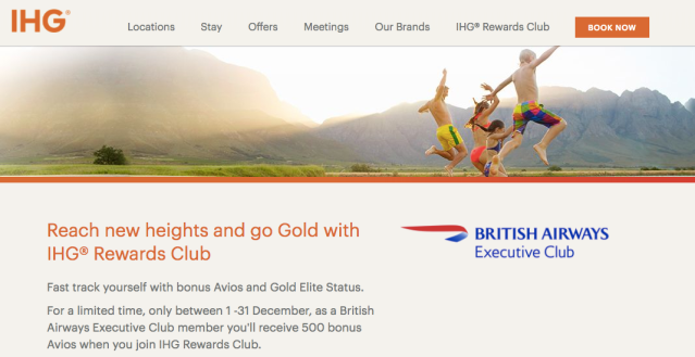 IHG Rewards BAEC Sign-Up