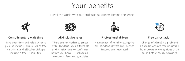 Blacklane Benefits