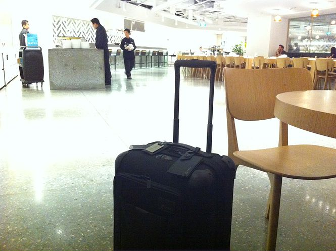 Tumi at the Qantas Singapore Lounge