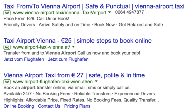 Vienna Airport to City Taxi Price