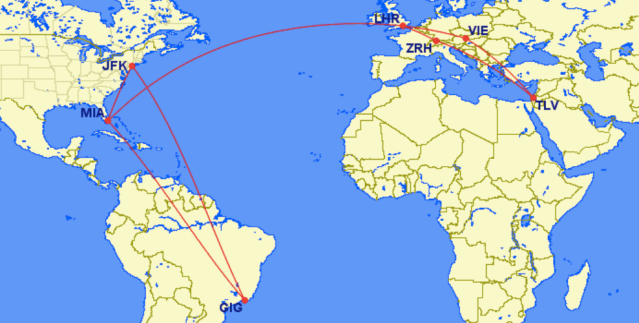 January Trip Map