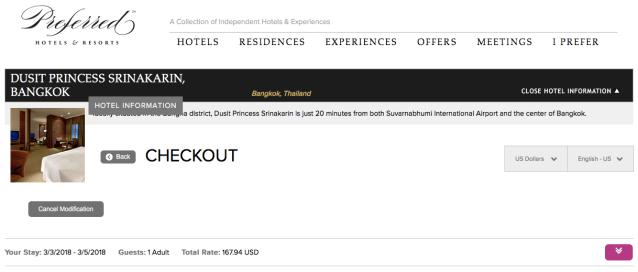 Preferred Hotels Random Booking