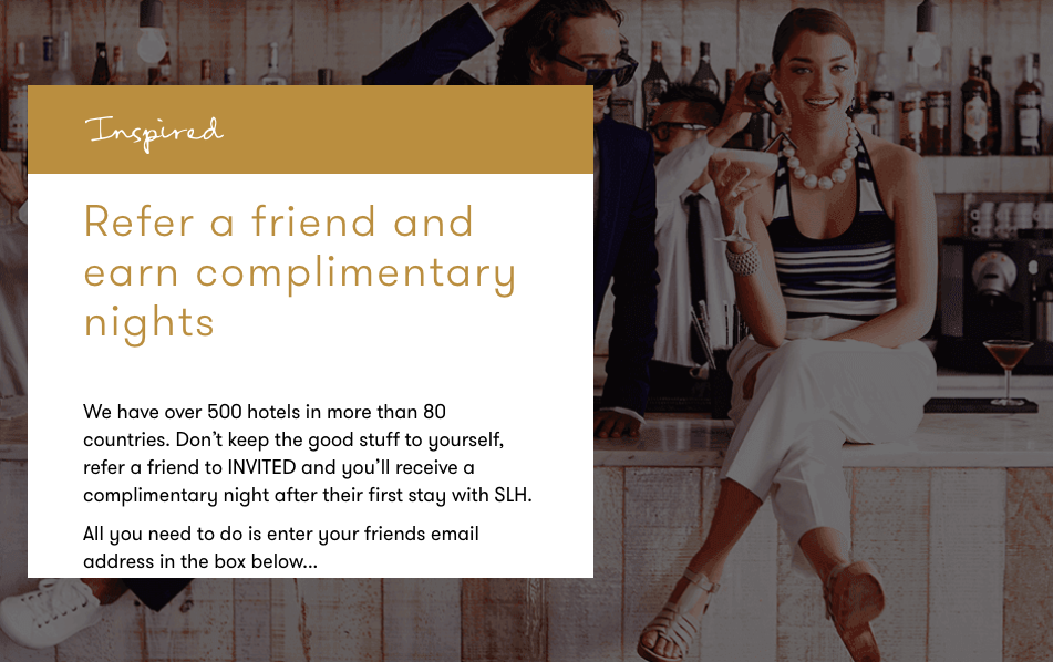 SLH Refer a Friend