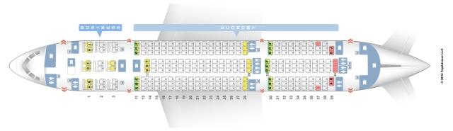 Air India Boeing 788 Seatmap