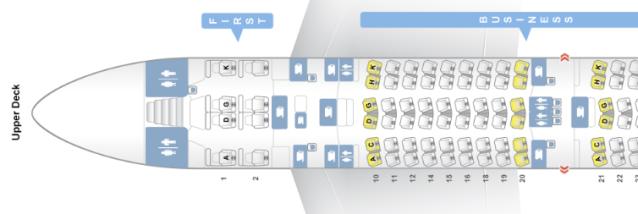 LH A380 Seat map