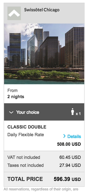 Swissotel Chicago Rate - Accor