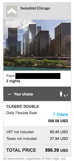 Swissotel Chicago Rate - Accor