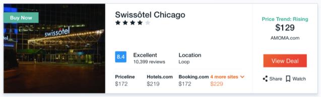 Swissotel Chicago Rate - Kayak