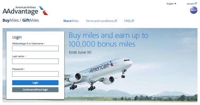 Buy AA Miles - June2018