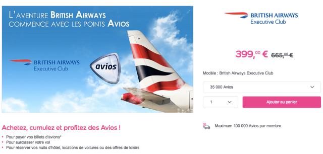 Buy Avios