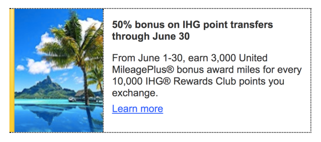 MileagePlus IHGR Bonus - June2018