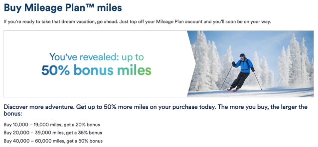 Up to 50% bonus on Alaska miles - August18