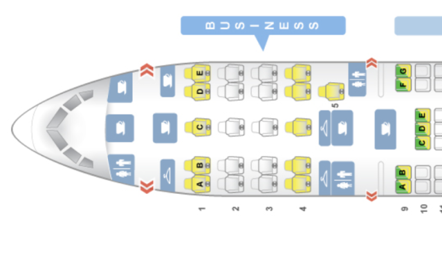 Azerbaijan Airlines 767 Seatmap