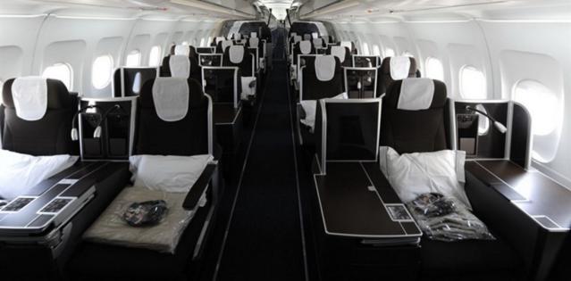 British Airways Ex-BMI A321 Business Class Cabin