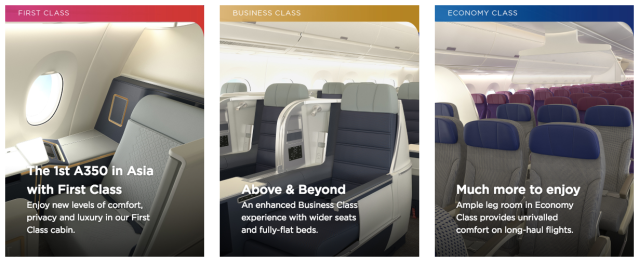 MH A350 Cabins