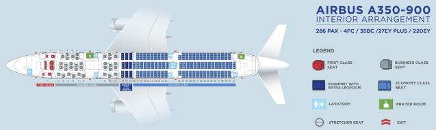 MH A350 Seatmap